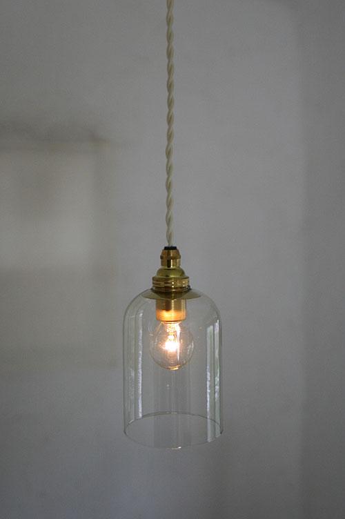 Japanese pendant lights set flask tube (clear & gold socket cream code) 5 W  1-light bulb included 15 mono pendant lights blown glass living lamp shade