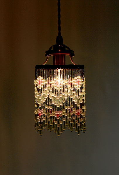 Only The Beaded Shades Shade Victorian Green Lighting Pendant Lights Living Lamp Antique