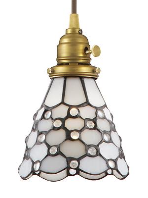 照明器具 天井照明 ペンダントライト モダンリビング ランプシェード シェード アンティーク レトロ プレゼント ギフト お祝 贈り物 新築ステンドグラスペンダント ドッツ(電球付属)(灯具セット)LED電球対応 ランプシェード 洋風0400-li-AW-0373V