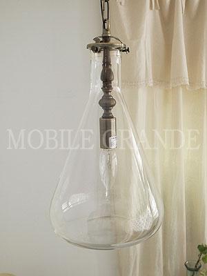 【送料無料】照明器具 天井照明 ペンダント 日本製 吹きガラス おしゃれガラスシェード グラスランプセット Flask三角 S(P) 灯具セット ※電球別売0147-li-ML-TR30-P
