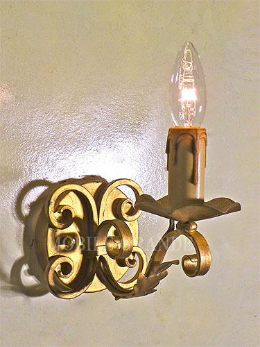 【送料無料】アイアン ウォールランプ 1灯 ゴールドシャンデリア アイアン led 電球 姫 アンティーク 照明器具 天井照明 レトロ リビング プレゼント ギフト お祝 贈り物0516-li-AW-B04-GL