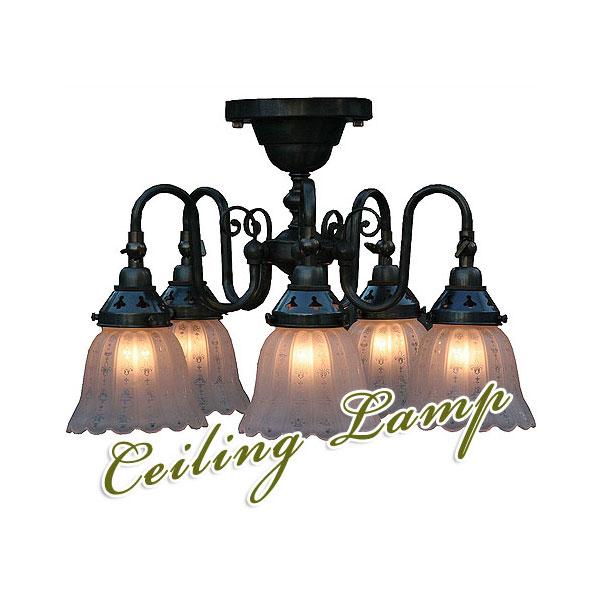 照明器具 天井照明 ペンダントライト シーリング シェードクラシックスタイルシャンデリア FC-125A5-1919(60Wx5灯=300W相当)※電球別売MT-FC-125A5-1919 LED電球対応