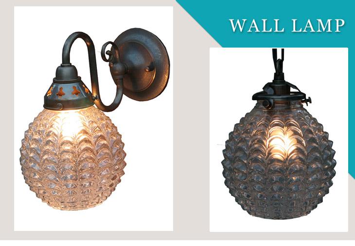 【送料無料】ウォールランプ LED 壁掛け ウォールライト ブラケットランプシェード アンティークレトロ 照明器具 天井照明 おしゃれ プレゼント ウォールランプ(室内用) ガラスシェード 324MT-FC-W122A-324 LED電球対応 ※電球別売