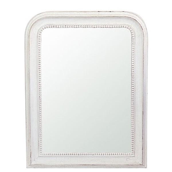 フレンチスタイル ミラー ウォールミラー 壁掛けミラー ホワイト  0124-mr-20033136