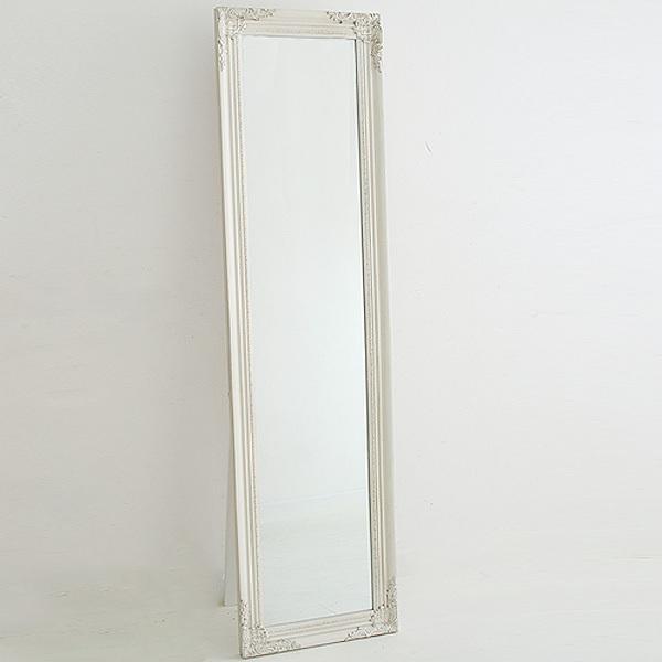 スタンドミラー ホワイト色 40x150  0222-mr-820007-wh