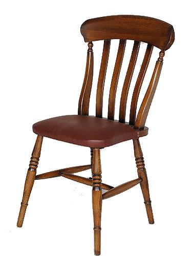 椅子 イス いす チェア チェアー 木製 革 皮 レザー アンティーク調 ダイニング デザイン 無垢 新生活 インテリア家具 完成品 プレゼントオーク スラットバックチェア (合皮張り)0035-ch-JG604-L