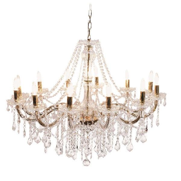 照明 おしゃれ シャンデリア アンティーク LED 対応 かわいい おしゃれ 天井照明 照明器具 ライト 12灯 ゴールド ガラスシャンデリア Glass Chandelier LED 対応  0202-li-kvb-100-12g-gd-l
