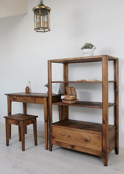 オープンシェルフ 棚 ディスプレイ アンティーク キャビネット リビング 収納 キッチン 無垢 北欧 木製 カフェ ナチュラル パイン材 模様替えラスティックパイン フォトシェルフ(S)0220-bs-RT-115-S