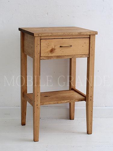 サイドテーブル コンソールテーブル 木製 アンティーク 無垢 木製 北欧 カフェ ナチュラル モダン パイン材 模様替え 引越し プレゼントRustic Once パイン材オーダー家具シリーズ スモールサイドテーブル0220-ct-P307