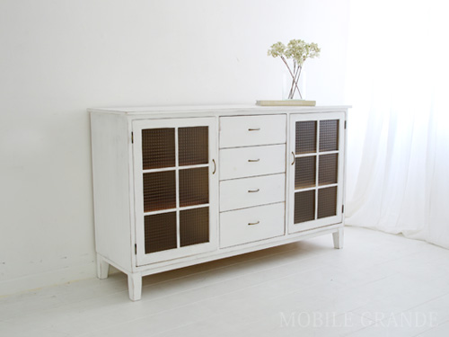 Gentil Mobilegrande: Sideboard Cabinet Glass Doors Drawers White Furniture Storage  Living Shelf Domestic Wood Pine Wood Fashion Cafe Natural Mobiligrande  Rustic ...
