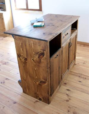カウンターテーブル バーカウンター キャビネット 家具 収納 引き出し キッチン 木製 アイアン パイン ナチュラル パイン材 模様替えカウンターテーブル カウンターキャビネット0220-dt-RI-703