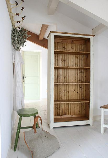 ラック シェルフ 飾り棚 本棚 棚 ブックケース ディスプレイラック 収納 ボード 無垢 木製 カントリー 無垢 北欧 木製 カフェ ナチュラルラスティックパイン ブックシェルフ(L)0220-bs-RT-114-L