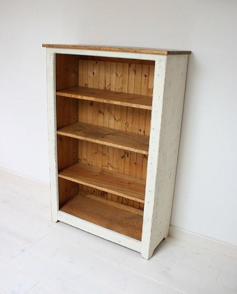 ラック シェルフ 飾り棚 本棚 棚 ブックケース ディスプレイラック 収納 ボード 無垢 木製 カントリー 無垢 北欧 木製 カフェ ナチュラルラスティックパイン ブックシェルフ(S)0220-bs-RT-114-S