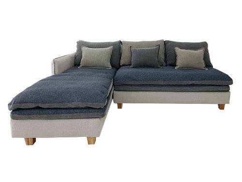 ソファ ソファーセット リビング カウチソファ コーナーソファ カバーリング ファブリック モビリグランデMコレクション クッション付きカバーリングソファ FUTON SOFA グレー カウチタイプ(向かって左側カウチ)0142-sf-mg40-2p-couch-r