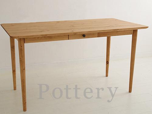 ダイニングテーブル 木製 カントリー ダイニングテーブル(単品)パイン家具Pottery ポタリー ダイニングテーブル(単品) 1350mm※本州玄関前渡し送料無料0152-dt-CO-01-135
