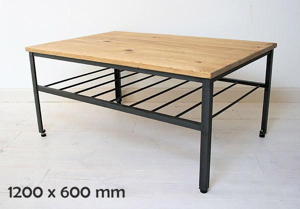 リビング ローテーブル ソファテーブル テーブル ナチュラル 木製 アイアン iron カントリー 無垢 北欧 カフェ ナチュラル モダン ローテーブルラスティックアイアン ローテーブルBridge 1200×6000220-lt-RI-400-120