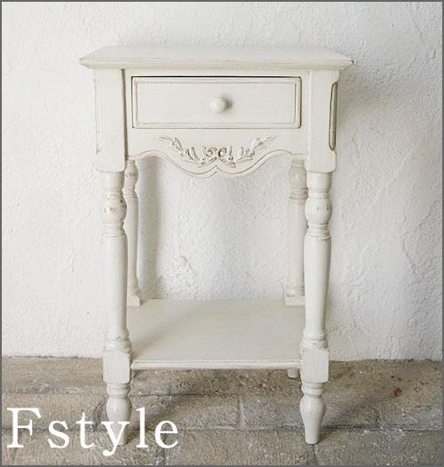コンソールテーブル サイドボード サイドテーブル ナイトテーブル 収納 ホワイト 木製 ロマンティック 北欧 カフェ ナチュラル モダンフランス家具 ホワイト ベッドサイドテーブル20222-lt-121003