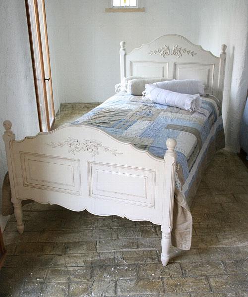 ベッド ベット ダブルベッド 姫 アンティーク 木製 ホワイト 白 家具 ホワイト家具 ロマンチック パイン材 模様替え 引越し 入学 新生ダブルベッド:フレームのみフランス家具 ホワイト ダブルベッド0222-bd-121043
