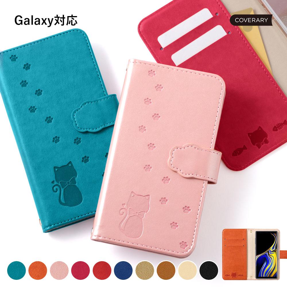 輸入 通販 Galaxy S10 plus ケース 手帳型 かわいい 手帳型ケース おしゃれ カバー s10+ ネコ 猫 手帳 可愛い ギャラクシー