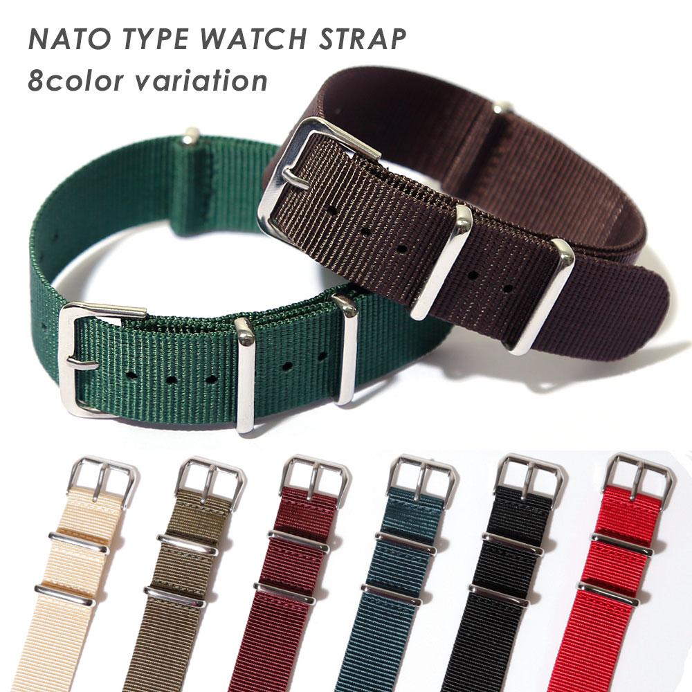 手錶皮帶18mm 20mm 22mm鐘表皮帶手錶替換皮帶尼龍帶交換人分歧D NATO型吊帶皮帶Timex TIMEX丹尼爾惠靈頓36mm事情40mm用漂亮的銀子黑色黄褐色棕色深藍紅藍色淺駝色