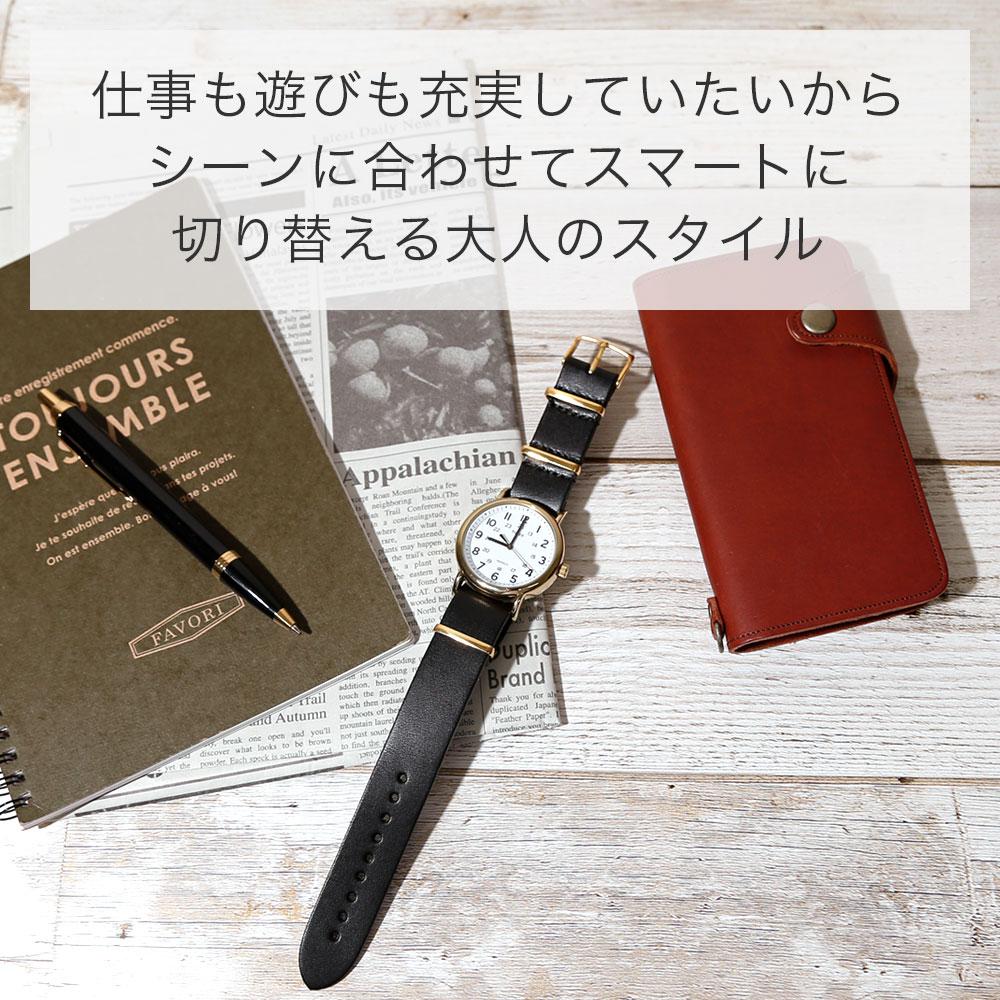 腕時計 ベルト 18mm 20mm 22mm 24mm 時計ベルト 腕時計 替えベルト 栃木レザー 本革 レザー 牛革 交換 メンズ レディース ミリタリー NATOタイプ ベルト シルバー ゴールド ピンクゴールド バックル CITIZEN シチズン