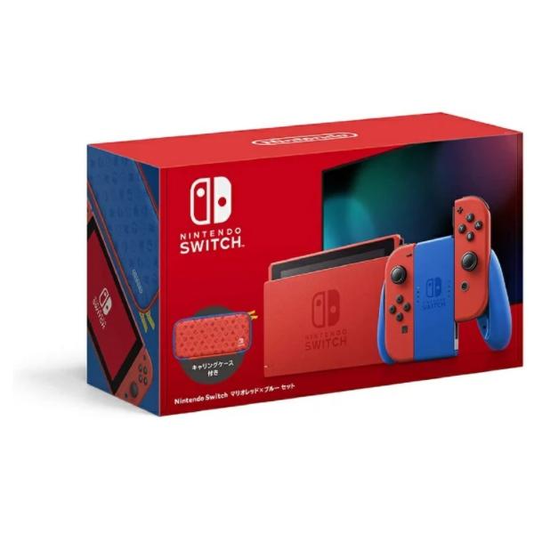 訳あり新品 Nintendo お洒落 永遠の定番モデル Switch セット マリオレッド×ブルー