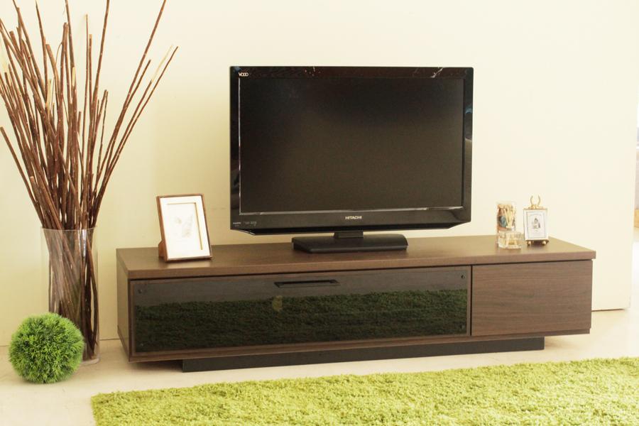 北欧風 モダン ロータイプ140センチ幅TVボード ブラウン 国産品 ローボード ヴィンテージ レトロ テレビボード テレビ台 収納