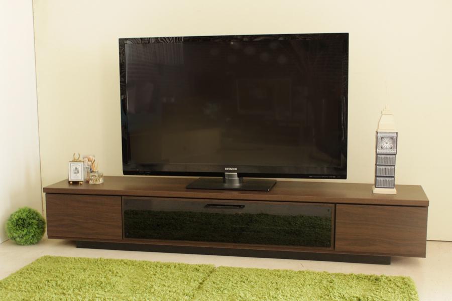 北欧風 モダン ロータイプ180センチ幅TVボード ブラウン 国産品 ローボード ヴィンテージ レトロ テレビボード テレビ台 収納