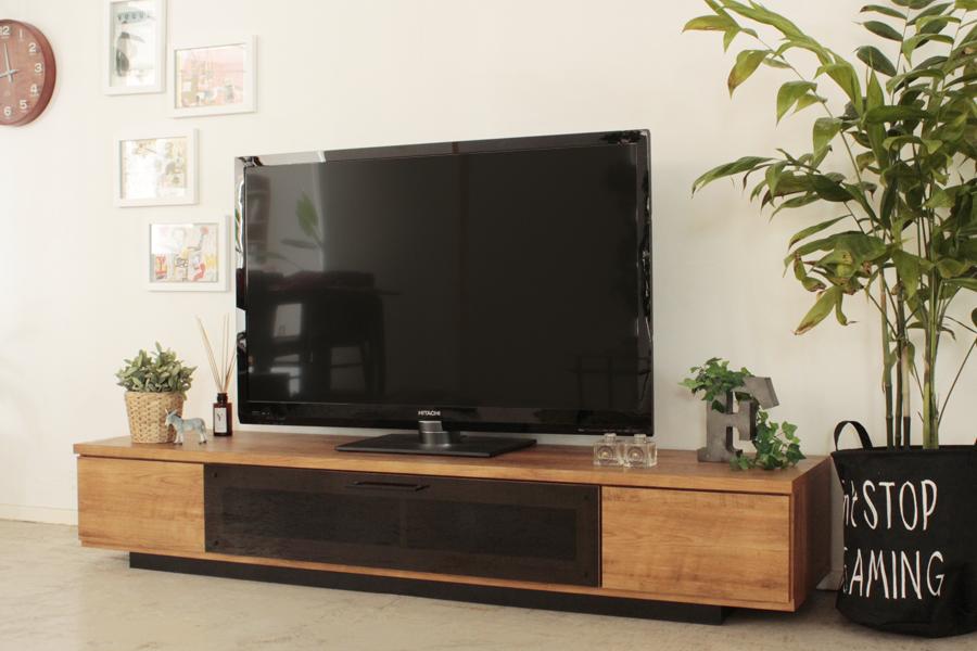 北欧風 モダン ロータイプ180センチ幅TVボード ミラーナチュラル 国産品 ローボード ヴィンテージ レトロ テレビボード テレビ台 収納最安値