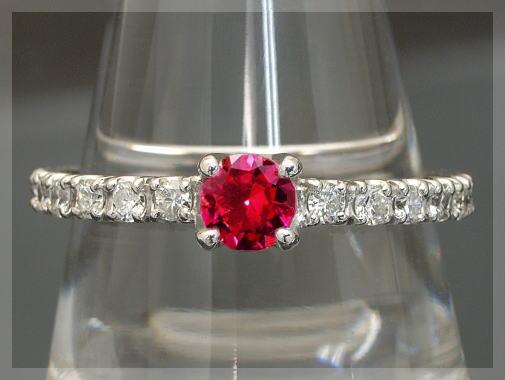 【10%OFFクーポン付】ダイヤモンド エタニティリング ダイヤ リング 一粒ルビー 7月の誕生石 ルビー ダイヤ ダイヤモンドリング ルビーリング