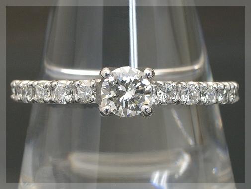 ダイヤモンド エタニティリング ダイヤ リング 一粒ダイヤモンドリング【中石 SIクラス カラーレス 0.2ct】K18 3色【鑑別書付き】【指輪 Diamond Ring】
