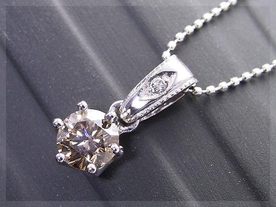 0.35ct Up ブラウンダイヤモンド アンティーク ネックレス K18【送料無料】ダイヤモンド ダイヤ ダイヤモンドネックレス シャンパン