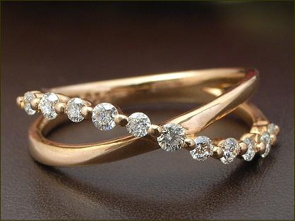 ダイヤモンド ピンキーリング 0.18ct ダイヤモンドリング