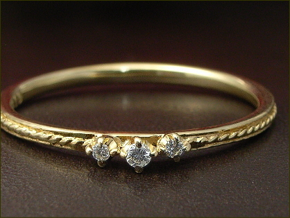 ダイヤモンド ピンキーリング 0.02ct ※サイズ0番から対応 ダイヤモンドリング