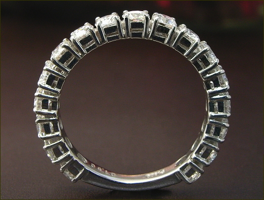 ダイヤモンド エタニティリング ダイヤ リング1.5ct【H&C VSクラス G~Dカラー 17石】プラチナ Pt900 17石 鑑別書付き【ダイヤモンドリング 指輪 Diamond Ring】H&C ハート&キューピッド
