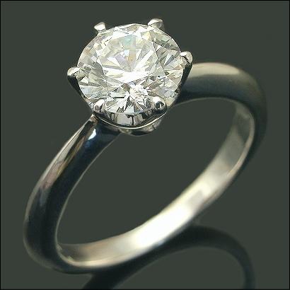 1ct プラチナ Pt900 ダイヤモンド 一粒 リング 6本爪 【SI2 Gカラー Good】鑑定書付き 【ブライダルジュエリー】【エンゲージリング・婚約指輪】【ダイヤモンドリング】【Diamond Ring】※クーポン利用不可