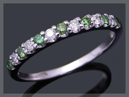 グリーンダイヤモンド ダイヤモンド エタニティリング ダイヤ リング K18 ゴールド 0.25ct ダイヤモンドリング【送料無料】