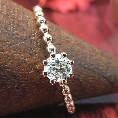 【SIクラス Hアップカラー】ダイヤモンド リング 高品質 ダイヤモンド 0.2ct 一粒 K18 3種 8本爪 ダイアモンド ダイヤモンドリング 指輪 Diamond 【cucue ring】 【重ねづけ リング】