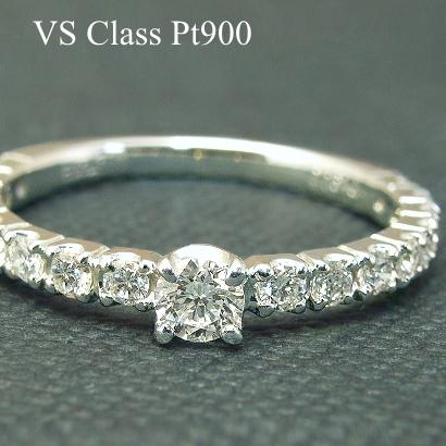 【10%OFFクーポン付】ダイヤモンド エタニティリング ダイヤ リング 一粒ダイヤモンドリング【VSクラス H-G】プラチナ Pt900 一粒 0.4ct 指輪 Diamond Ring ダイヤモンドリング