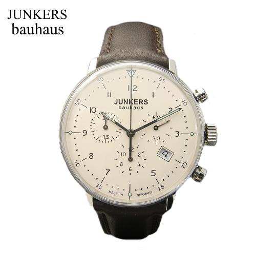ユンカース JUNKERS バウハウス Bauhaus クロノグラフ腕時計/クォーツ/6086-5qz【ユンカース 時計 正規品】※クーポン利用不可