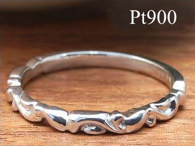 プラチナ Pt900 アラベスク プラティーネ リング【送料無料】【指輪 リング プラチナ900】 【重ねづけ リング】