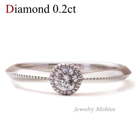 【SIクラス G-Hカラー】K18 ダイヤモンド ミル打ち リング【送料無料】【ダイヤ ダイアモンド 指輪 Diamond Ring】ダイヤモンドリング
