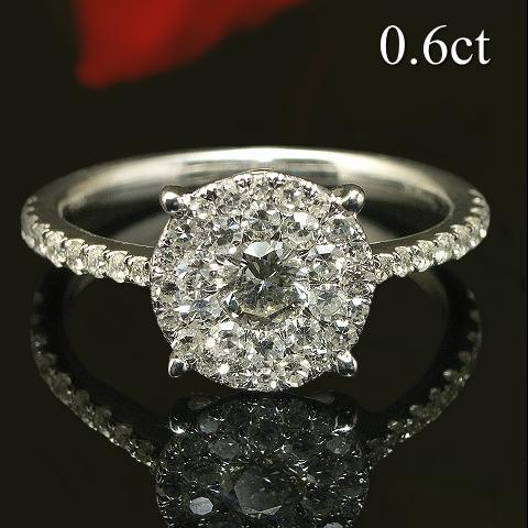 日本最大級 ダイヤモンド リング Diamond プラチナ Pt900 0.6ct 大粒 ラウンド ラウンド Pt900 シンプルデザイン アリュールカット ダイヤモンド リング 鑑別カード付き Diamond Ring, ネイルコレクション:972d6f09 --- newplan.com
