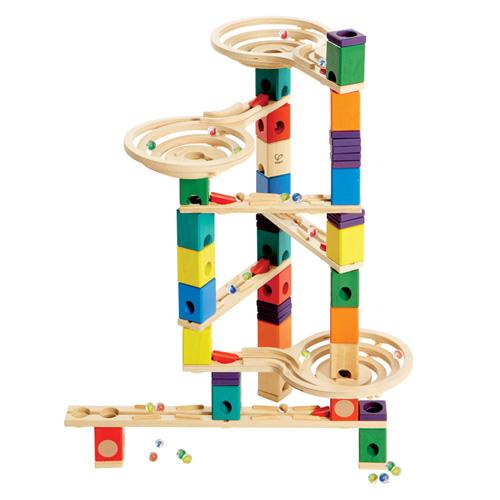 【おまけ付き ビー玉キャッチャー】 BorneLund(ボーネルンド ) クアドリラ ツイスト&レールセット【数量限定】【木のおもちゃ 知育玩具 スロープ】