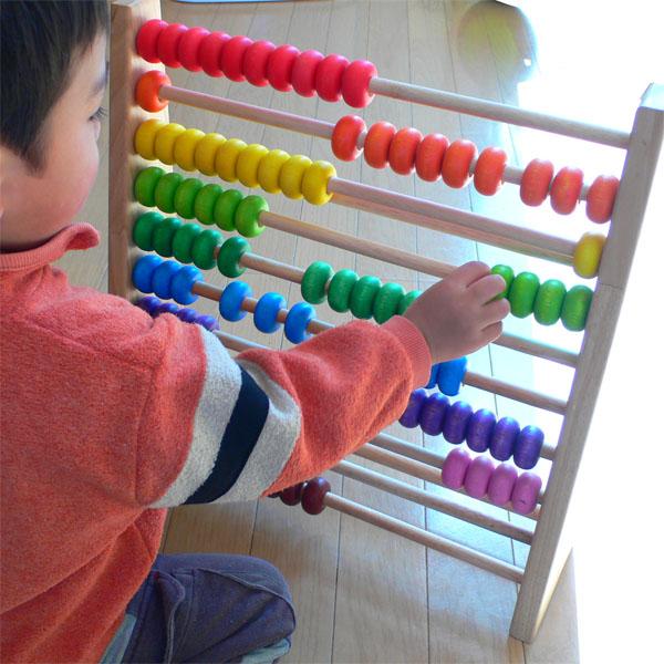 木制玩具 エトボイラ 教育玩具 レインボーアバカス (大學的素算盤木) 3 年: 3 歲男子: 女人