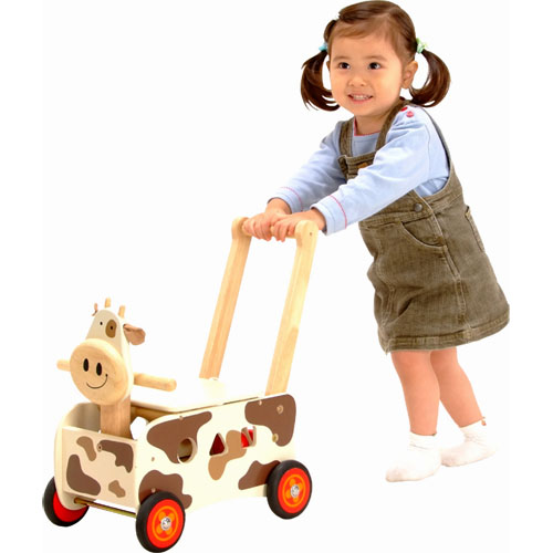 I'm TOY IMTI BARROW drive & ride for toys Walker & ride cow 1 year old: 1-year-old man: woman
