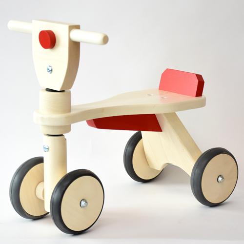 レディーバード社 乗用玩具 木製四輪車 キッズウォーカー 赤 木のおもちゃ 出産祝い お誕生日 1歳:男 お誕生日 1歳:女【kd】
