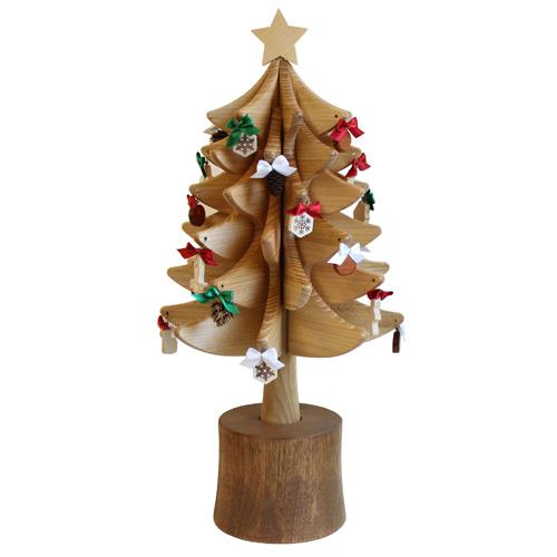 【クリスマスツリー 木製】オークヴィレッジ・Oak Village オルゴールツリー スタンダード(ナチュラル) 曲目:ジングルベル 数量限定【日本製】【Y】