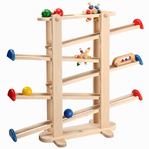 【木のおもちゃ スロープ】 プレジャーガーデン プレイミー PlayMeToys 知育玩具 木製玩具 キッズコーナー キッズスペース お誕生日 出産祝い【Y】【kd】