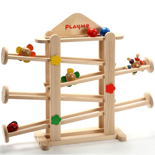 【木のおもちゃ スロープ】 フラワーガーデン プレイミー PlayMeToys 知育玩具 木製玩具 キッズコーナー キッズスペース お誕生日 出産祝い【Y】【kd】